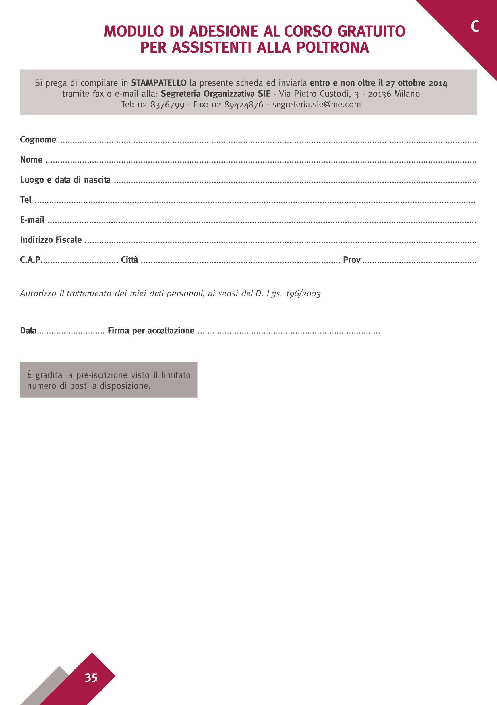 Modulo di Adesione al Corso per Assistenti