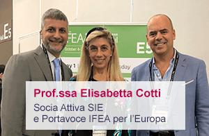 Elisabetta Cotti portavoce per l'Europa dell'Ifea