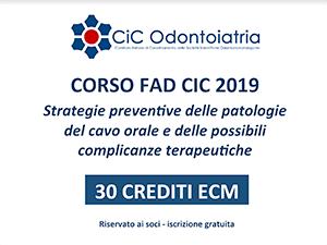 Corso Fad CIC 2019